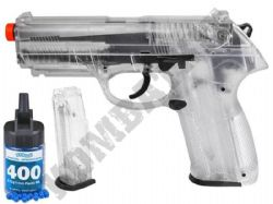 Beretta PX4 Storm BB Gun Official Spring Airsoft Pistol Clear Black 2 Tone + 400 BB's